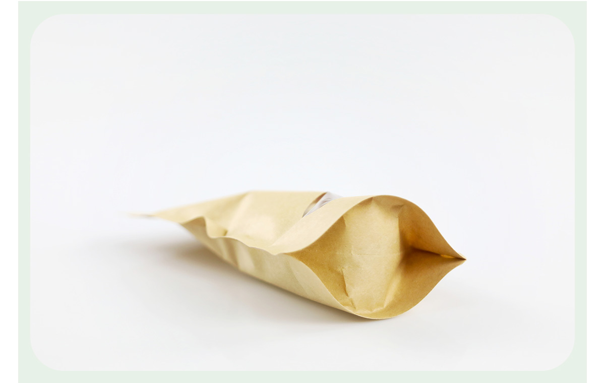 Kraft Zipper Pouch Bags