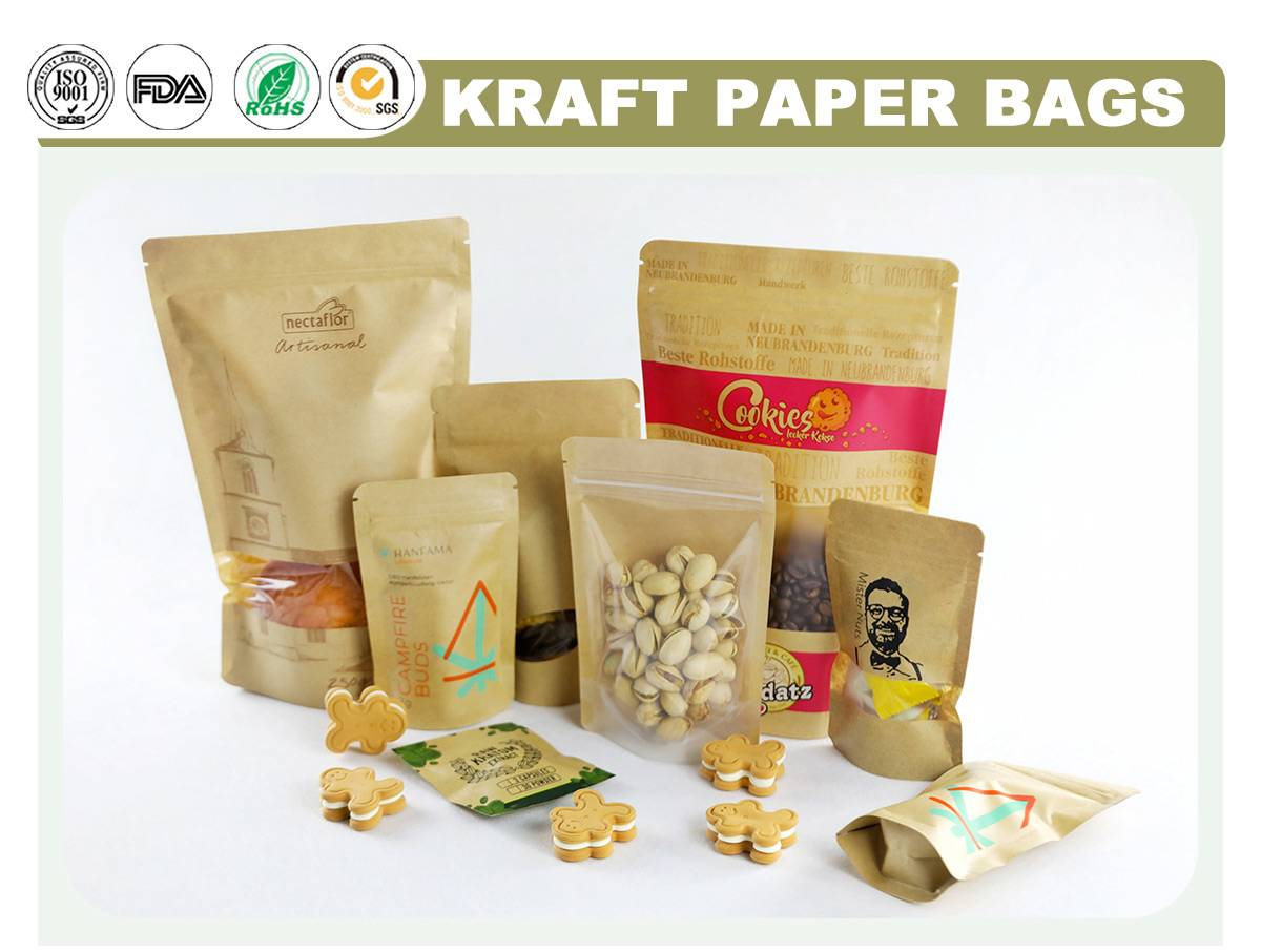 Kraft Zipper Bag