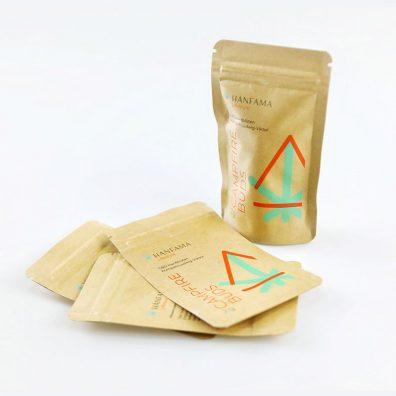 Food Grade  Kraft Ziplock Bags Wholesale Custom