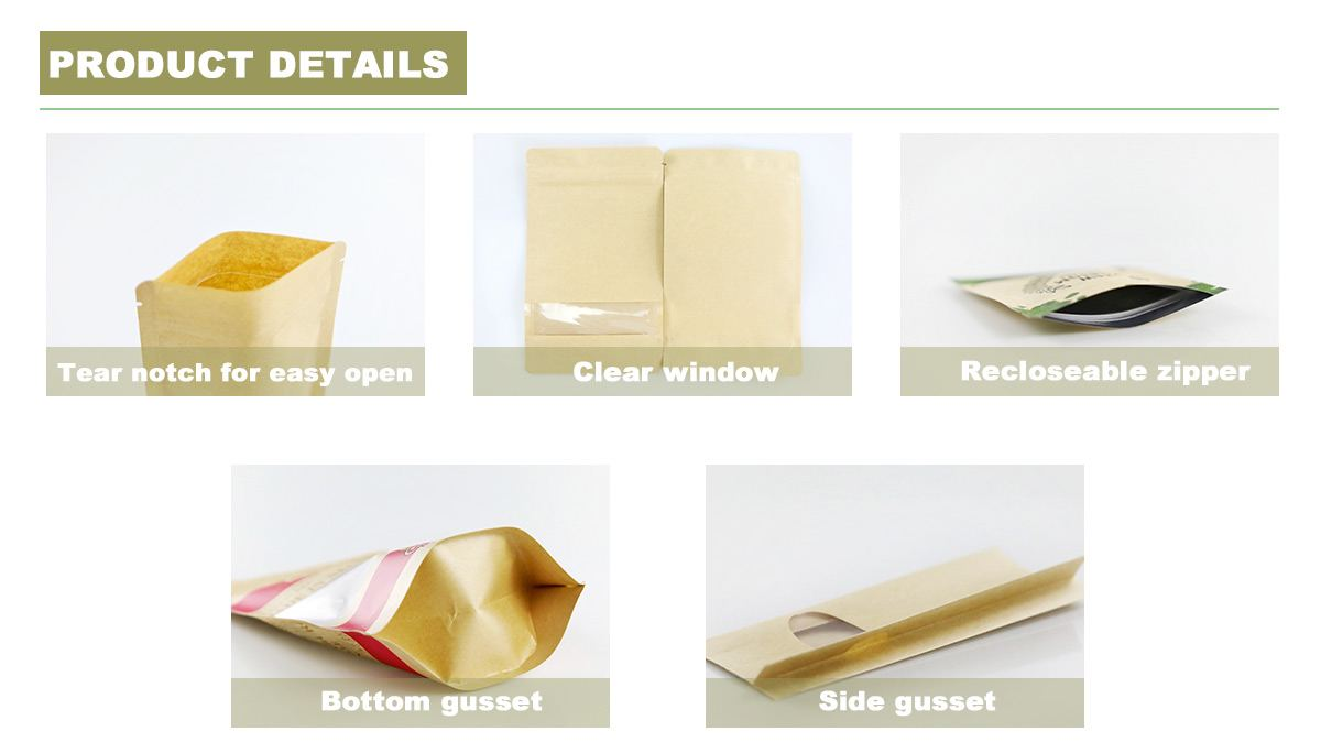 Kraft Paper Bags With Window Details