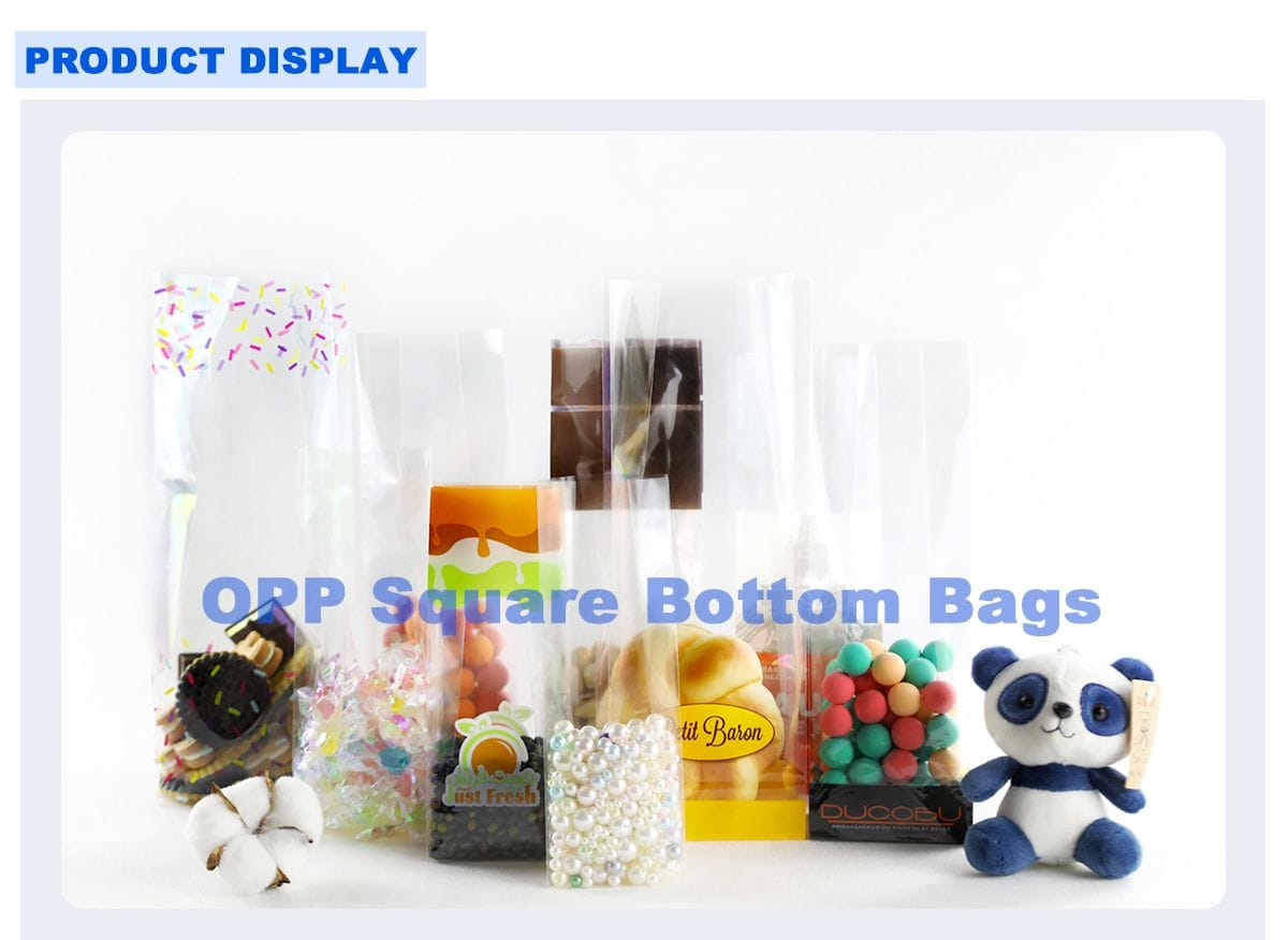 Clear plastic bags cookies collection