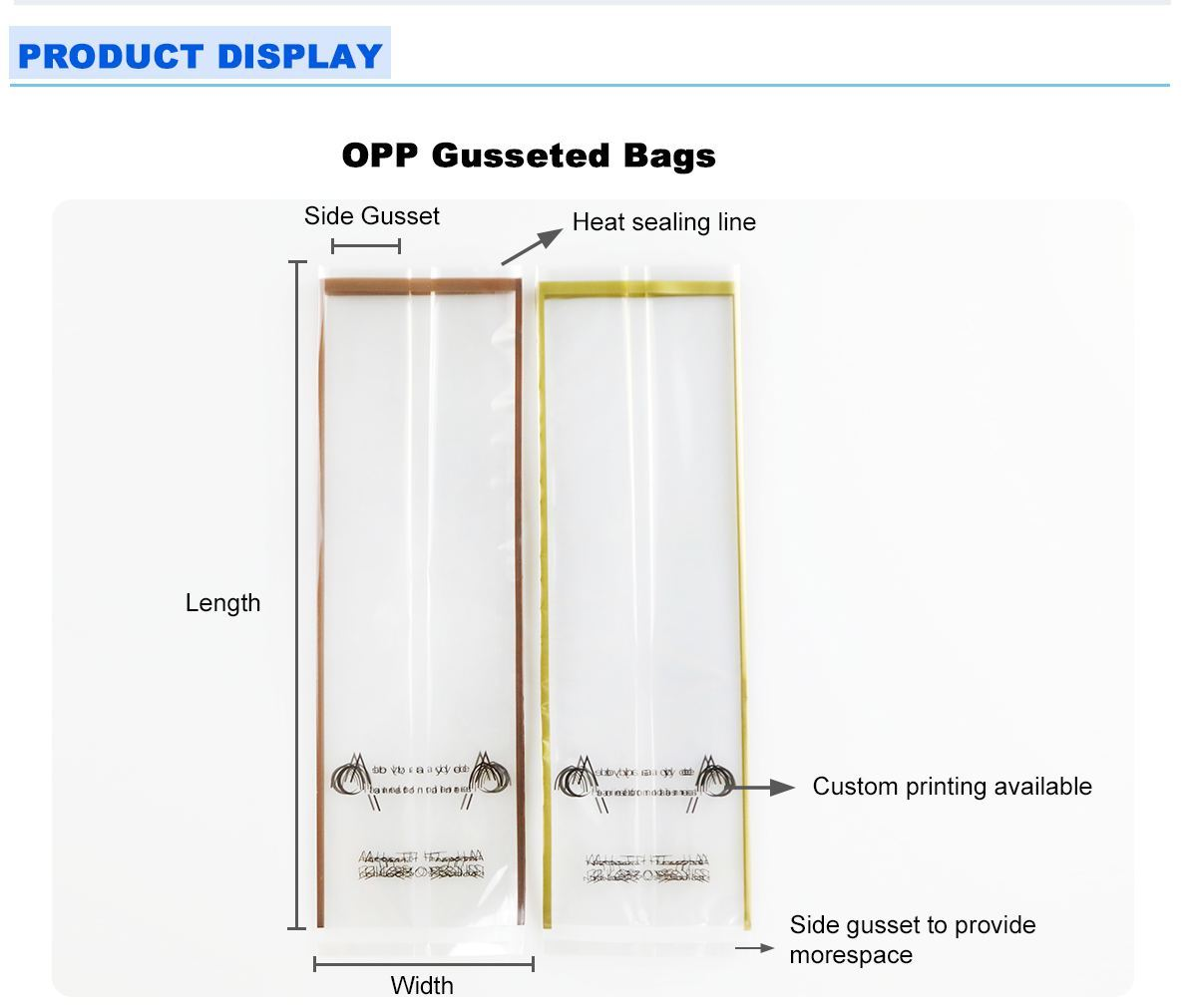 Clear Gusset Bags