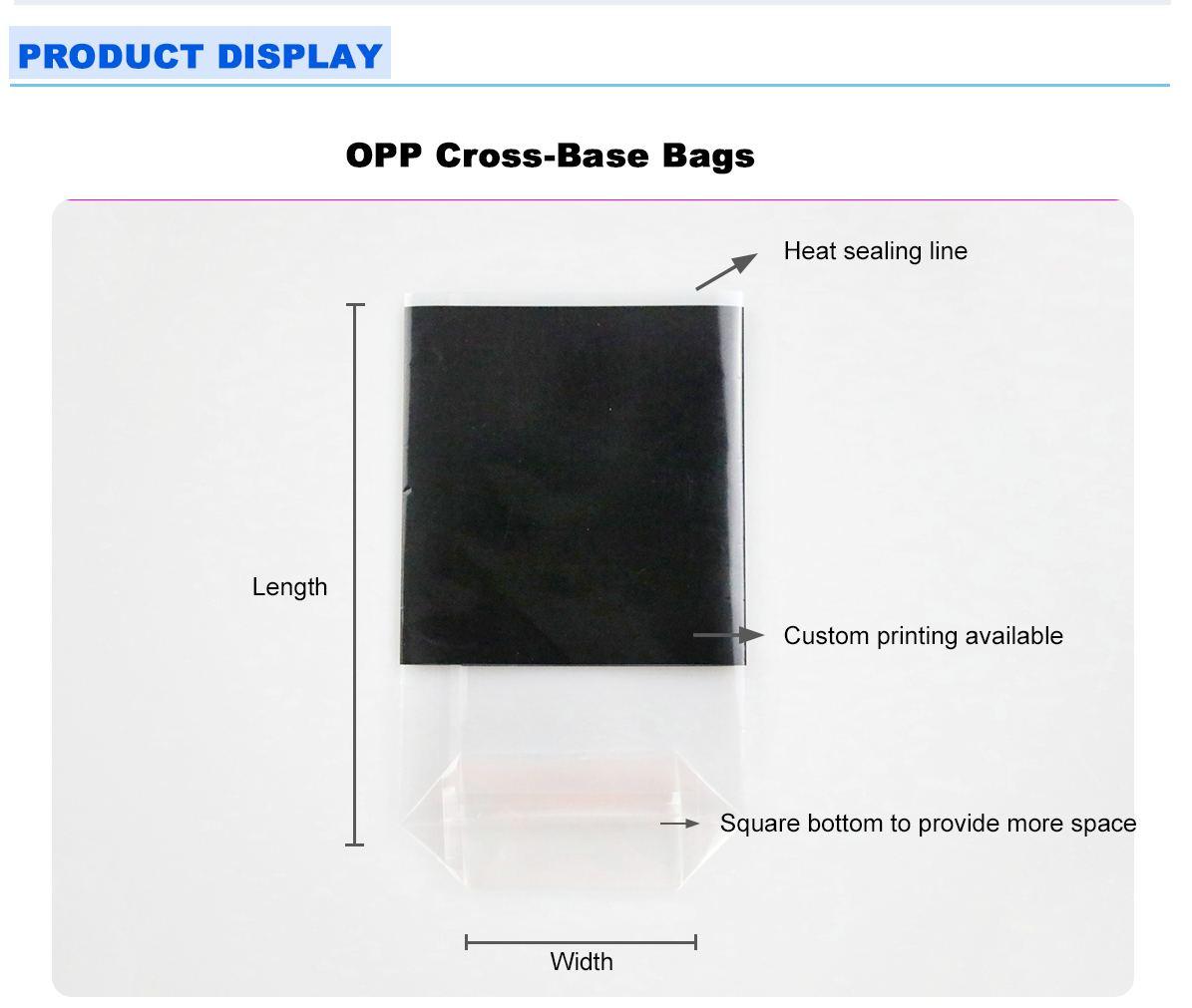 Heat Sealable Cellophane Bags