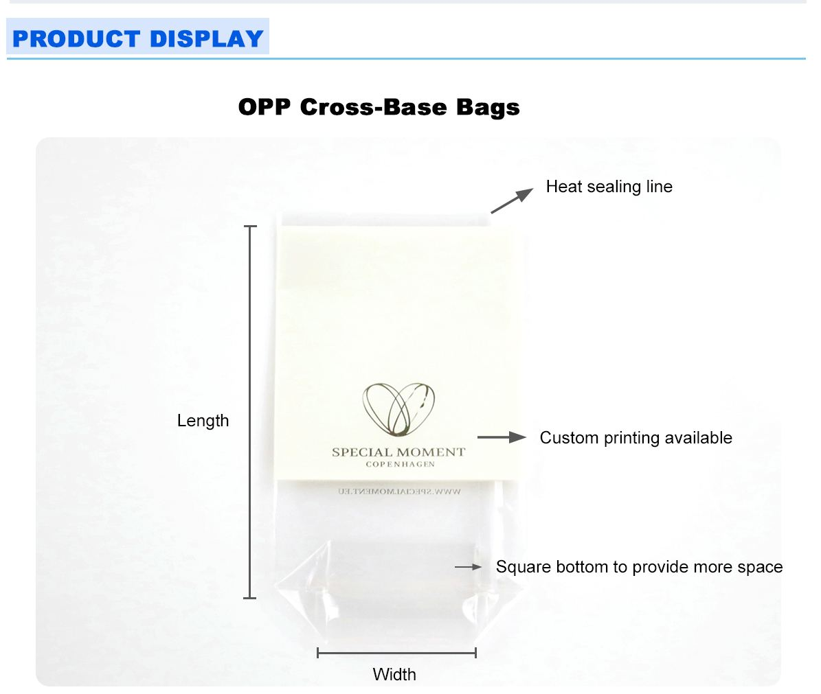 Opp Cross Bottom Bags