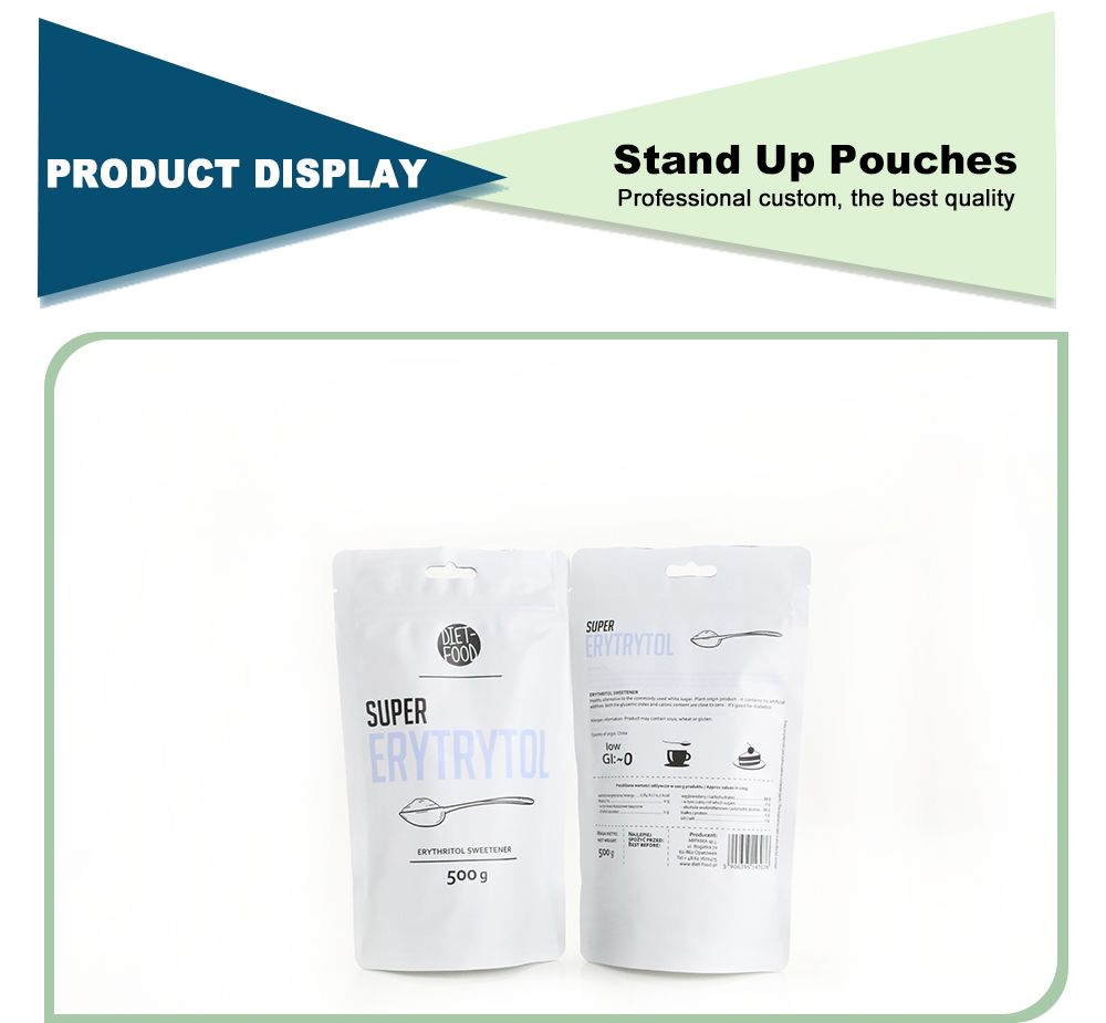 Custom Wholesale Printed Stand Up Pouches