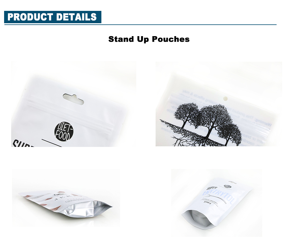 Reusable Custom Printed Stand Up Pouches Minutiae