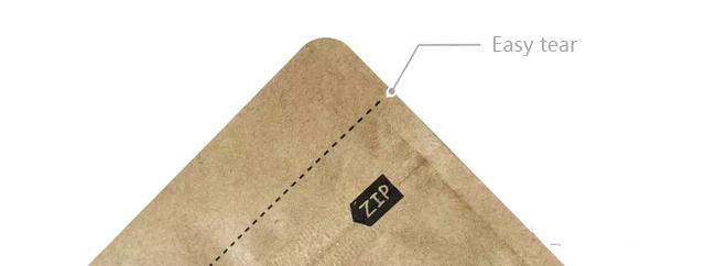 Customized coffee bag easy to tear