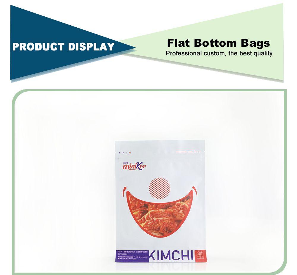 Food Grade Gravure Printing Flat Bottom Plastic Bags