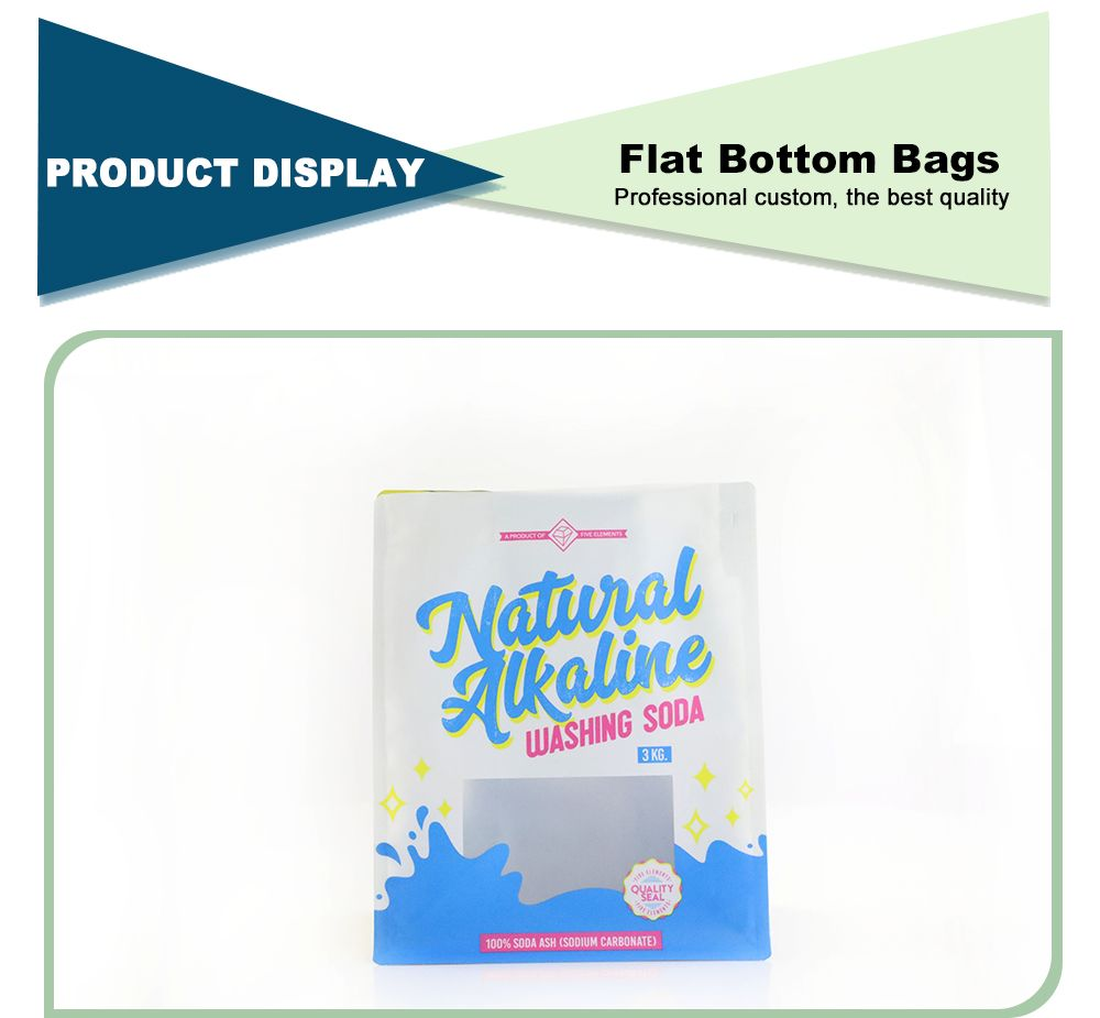 Gravure Printing Food Grade Flat Bottom Pouch