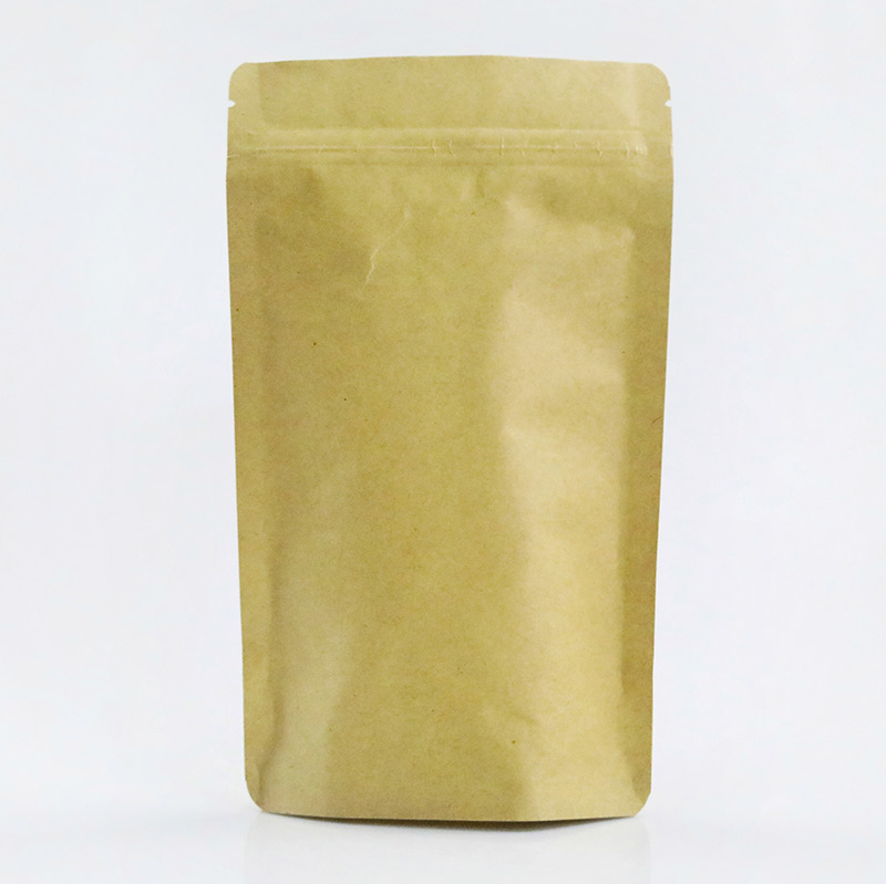 Stand Up Kraft Zipper Bag Wholesale