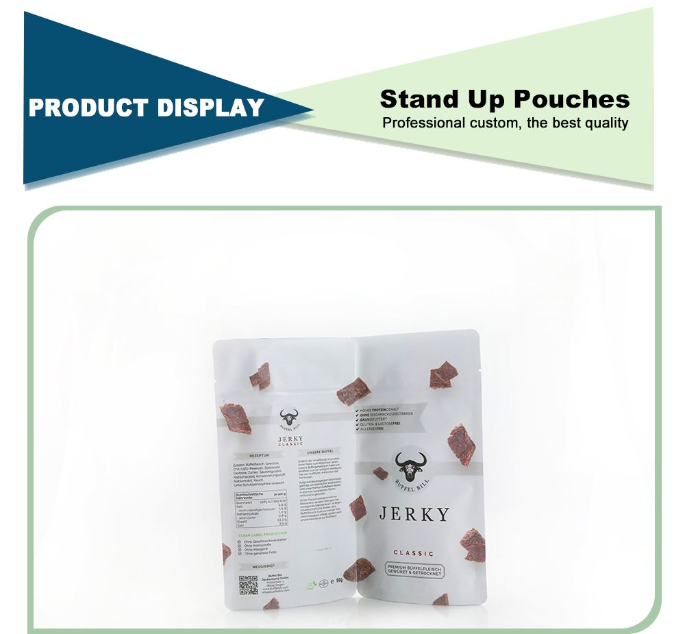 Reusable Custom Printed Stand Up Pouches