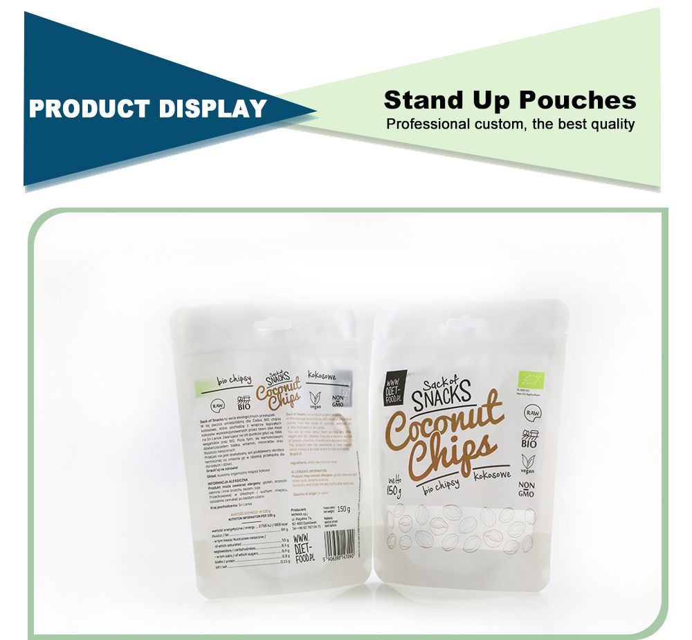 Wholesale Printed Reusable Stand Up Zipper Bags
