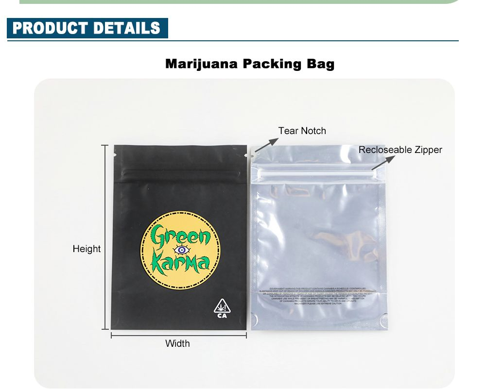 Custom Small Smell Proof Bags Wholesale