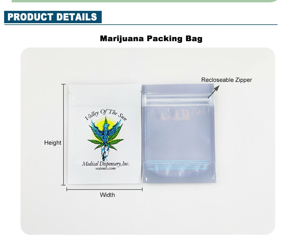 Custom Smell Proof Bags Resealable