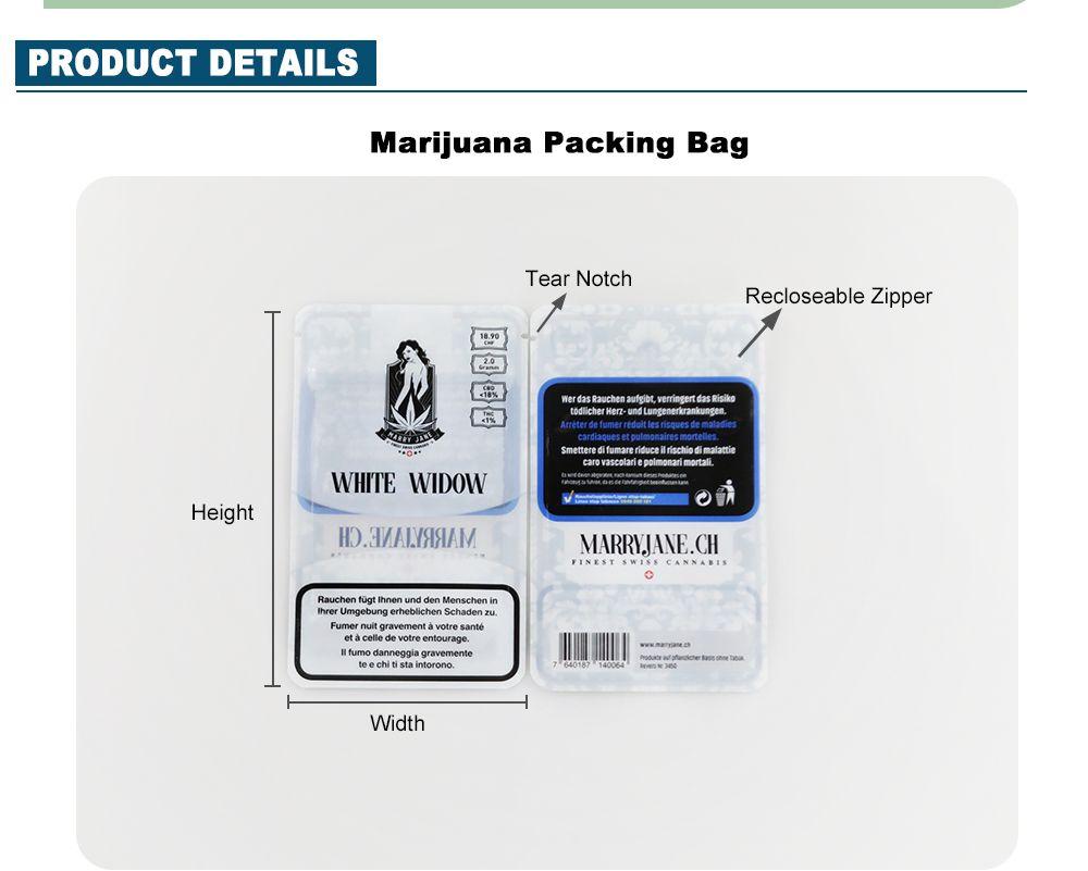 Heat Seal Custom Smell Proof Mylar Bag