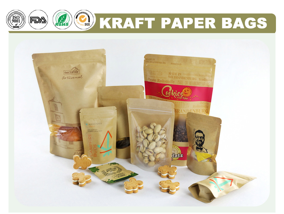 Wholesale Kraft Paper Food Bags Manufacturer